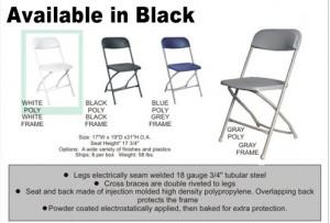 Black Metal Frame Folding Chairs Image
