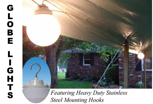 white globe lights, large party tents, party rentals, Hopewell Junction party rentals