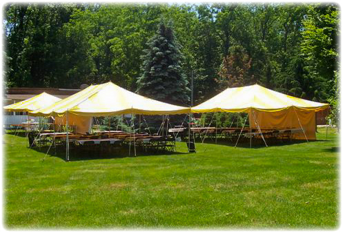 large party tents, rental tables and chairs, party rentals, Dutchess County, Hopewell Junction, NY