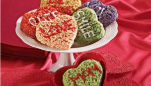 Valentine's Day treats rice krispie treats