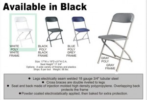 Black Metal Frame Folding Chairs Image